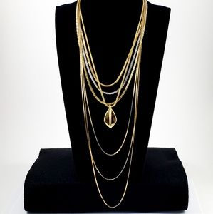 3 Necklaces: Monet and Napier Layer Chains